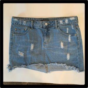Forever 21 Jean Mini Skirt Large.
